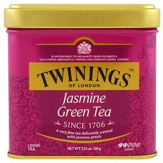 Twinings, Of London,茶葉,茉莉花綠茶,3.53盎司(100克)