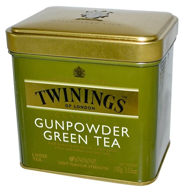 Twinings, 經典綠茶,3、53盎司(100克)
