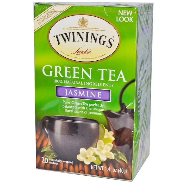 Twinings, Green Tea, Jasmine, 20 Tea Bags, 1.41 oz (40 g) (Discontinued Item)