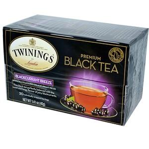Твайнингс, Premium Black Tea, Blackcurrant Breeze, 20 Tea Bags, 1.41 oz (40 g) отзывы покупателей