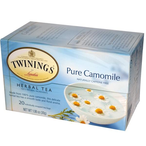 Twinings, Herbal Tea, Pure Camomile, Caffeine Free, 20 Tea Bags, 1.06 oz (30 g) (Discontinued Item)