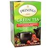 Twinings, Зелёный чай, гранат, малина и клубника, 20 пакетиков, 30 г