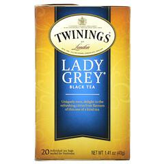 Twinings, 伯爵夫人紅茶,20個茶包,1.41盎司(40克)