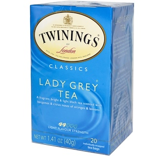 Twinings, Lady Grey Tea, 20 Tea Bags, 1.41 oz (40 g)