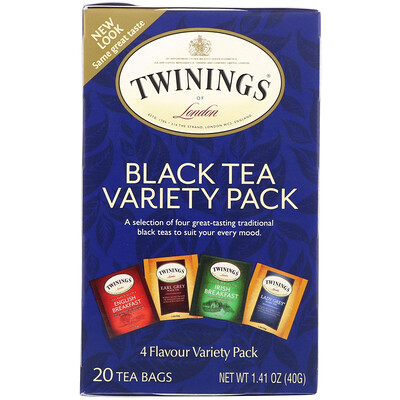 Купить Черный чай, 20чайных пакетиков, 40г (1, 41унции)