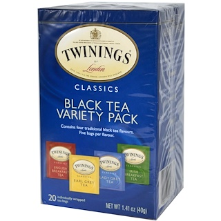 Twinings, Classics, Black Tea Variety Pack, 20 Tea Bags, 1.41 oz (40 g)