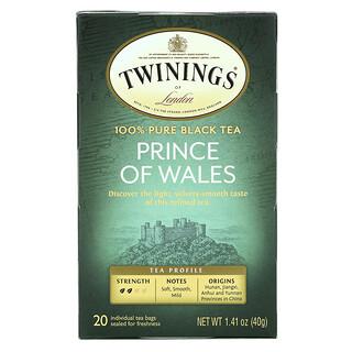 Twinings, 100% Pure Black Tea, Prince of Wales, 20 Tea Bags, 1.41 oz (40 g)
