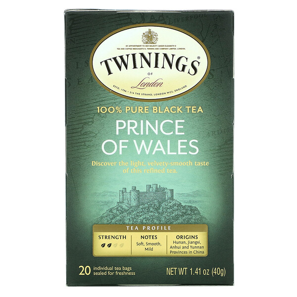 Prince of Wales Tea, 20 Tea Bags, 1.41 oz (40 g)