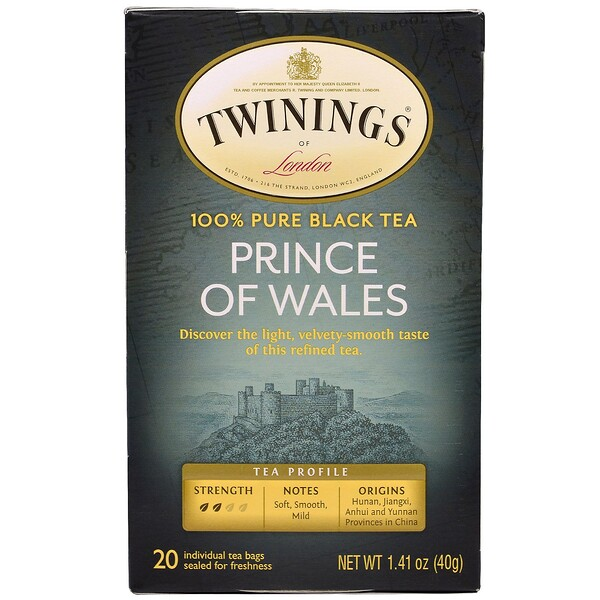 Prince of Wales Tea, 20 sachets de thé, 1,41 oz (40 g)