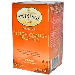 Twinings, Origins, Ceylon Orange Pekoe Tea, 20 Tea Bags, 1.41 oz (40 g)
