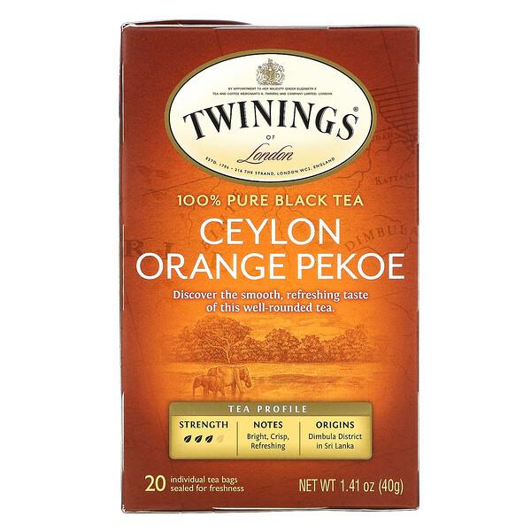 Ceylon Orange Pekoe Tea, 20 Tea Bags, 1.41 oz (40 g)