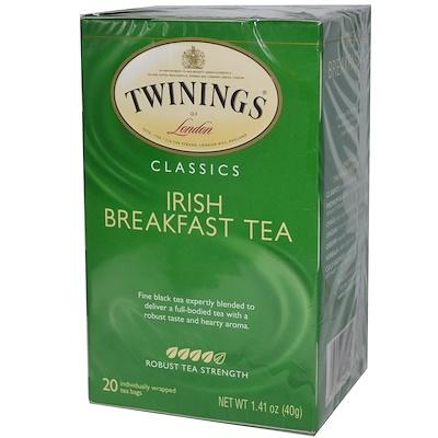 Twinings 經典,愛爾蘭早餐茶,20個茶包,1.41盎司(40克)