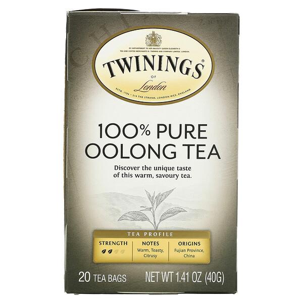 100% Pure Oolong Tea, 20 Tea Bags, 1.41 oz (40 g)