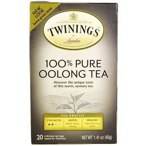Твайнингс, 100% Pure Oolong Tea, 20 Tea Bags, 1.41 oz (40 g) отзывы покупателей