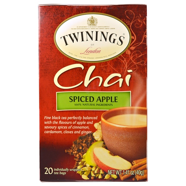 Twinings, Chai, Spiced Apple, 20 Tea Bags, 1.41 oz (40 g) (Discontinued Item)