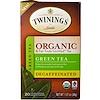 Twinings, Органический зеленый чай, декофеинизированный, 20 чайных пакетиков по 1,27 унции (36 г)