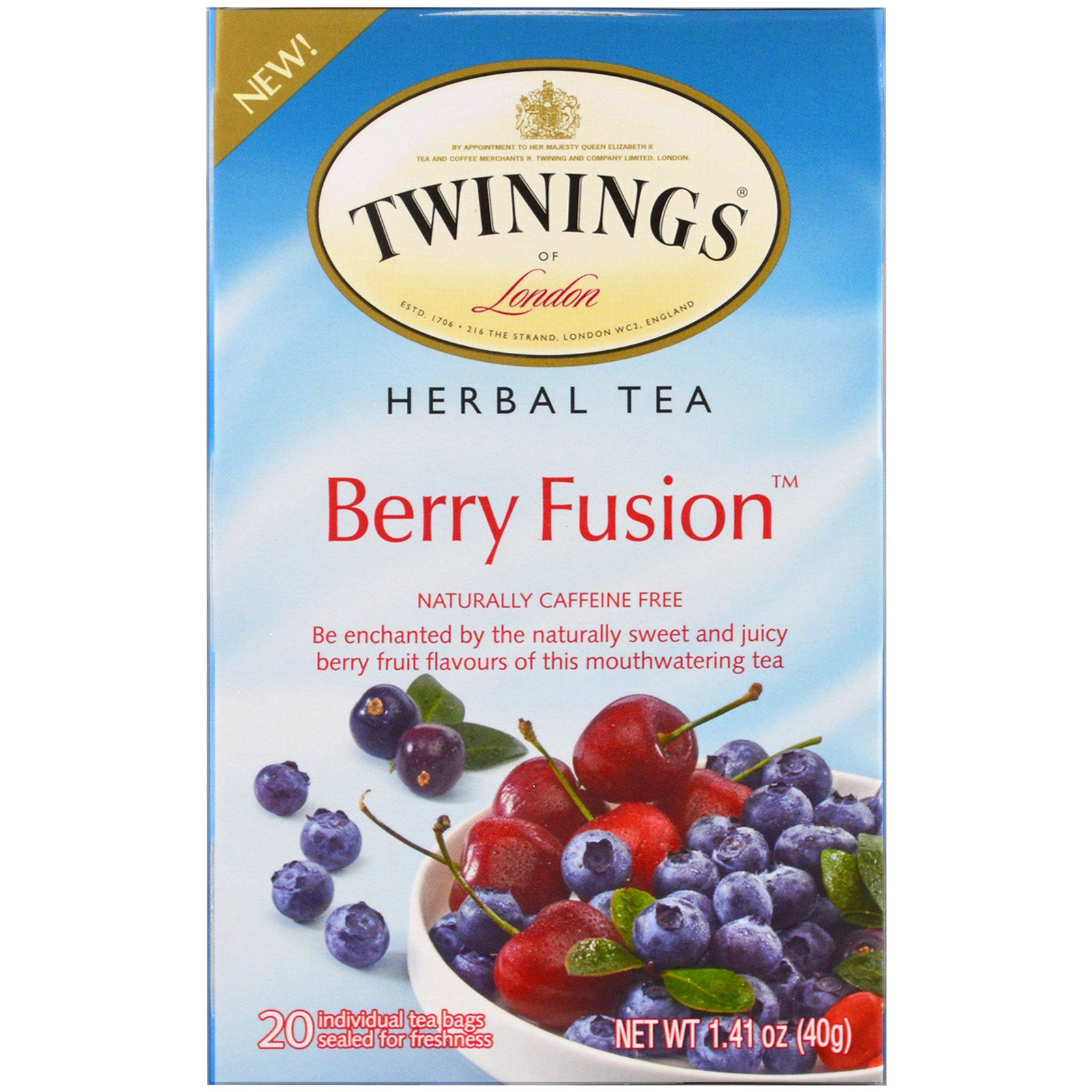 Twinings Herbal Tea Berry Fusion Caffeine Free 20