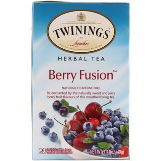 Twinings, Herbal Tea, Berry Fusion, Caffeine Free, 20 Tea Bags, 1.41 oz (40 g)