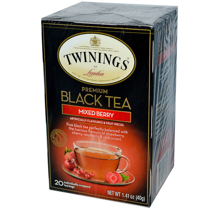 Premium Black Tea, Mixed Berry, 20 Tea Bags, 1.41 oz (40g)