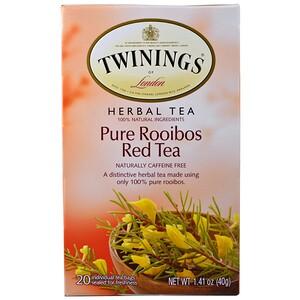 Твайнингс, Herbal Tea, Pure Rooibos Red Tea, Caffeine Free, 20 Tea Bags, 1.41 oz (40 g) отзывы