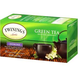 Twinings, 緑茶、ジャスミン、ティーバッグ25袋、1.76オンス(50 g)