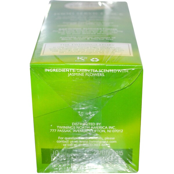 Green Tea, Jasmine, 25 Tea Bags, 1.76 oz (50 g)