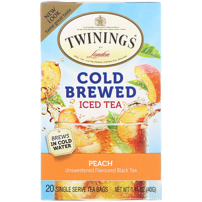 Купить Чай со вкусом персика для приготовления холодного чая, 20 пакетиков, 1.41 унций (40 г)