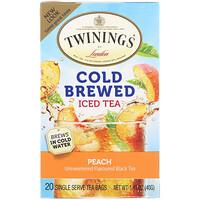 Чай со вкусом персика для приготовления холодного чая, 20 пакетиков, 1.41 унций (40 г) - фото