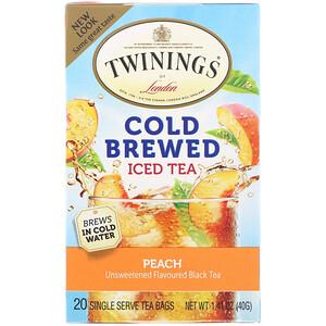 Твайнингс, Cold Brewed Iced Tea, Peach, 20 Tea Bags, 1.41 oz (40 g) отзывы покупателей