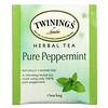 Twinings, Herbal Tea, Pure Peppermint, Caffeine Free, 50 Tea Bags, 3.53 oz (100 g)