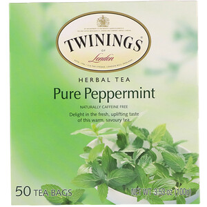 Твайнингс, Herbal Tea, Pure Peppermint, Caffeine Free, 50 Tea Bags, 3.53 oz (100 g) отзывы покупателей