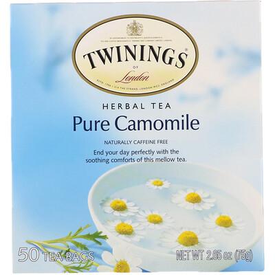 Купить Twinings Травяной чай, чистая ромашка, без кофеина, 50чайных пакетиков, 75г