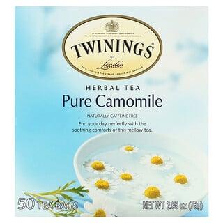 Twinings, Herbal Tea, Pure Camomile, Caffeine Free, 50 Tea Bags, 2.65 oz (75 g)