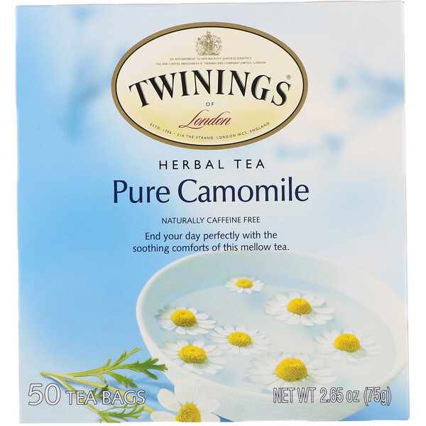 Herbal Tea, Pure Camomile, Caffeine Free, 50 Tea Bags, 2.65 oz (75 g)