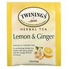 Twinings, ハーブティー、レモン&ショウガ、カフェインフリー、ティーバッグ50個、75g(2.65オンス)