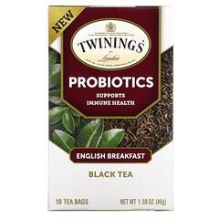 Twinings, 益生菌紅茶,英式早餐茶,18 茶包,1.59 盎司(45 克)