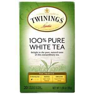 Твайнингс, 100% Pure White Tea, 20 Tea Bags, 1.06 oz (30 g) Each отзывы покупателей