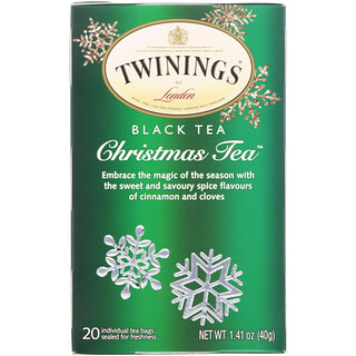 Twinings, Black Tea, Christmas Tea, 20 Tea Bags, 1.41 oz (40 g)
