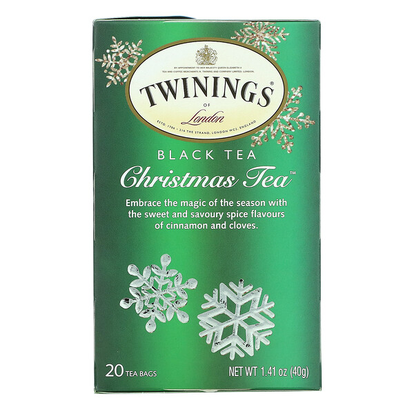 Black Tea, Christmas Tea, 20 Tea Bags, 1.41 oz (40 g)