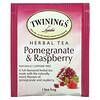 Twinings, Herbal Tea, Pomegranate & Raspberry, Caffeine Free, 20 Tea Bags, 1.41 oz (40 g)