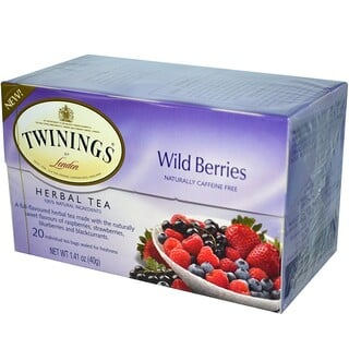 Twinings, Herbal Tea, Wild Berries, Caffeine Free, 20 Tea Bags, 1.41 oz (40 g)