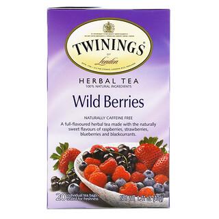 Twinings, Herbal Tea, Wild Berries, Caffeine Free, 20 Tea Bags, 1.41 oz (40 g)