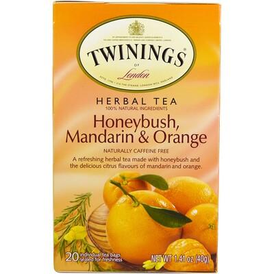 Купить Травяной чай: циклопия, мандарин, апельсин, без кофеина, 20 отдельных чайный пакетов, 1.41 унц. (40 г)
