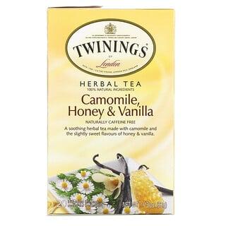 Twinings, Herbal Tea, Camomile, Honey & Vanilla, Caffeine Free, 20 Tea Bags, 1.13 oz (32 g)