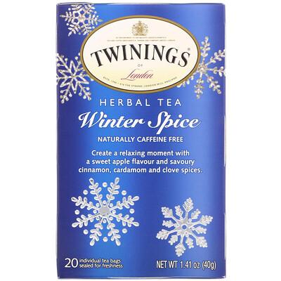 Купить Twinings Травяной чай, Winter Spice, без кофеина, 20чайных пакетиков, 40г (1, 41унции)