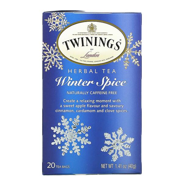 草本茶,冬季香料,不含咖啡萃取,20 个茶包,1.41 盎司(40 克)