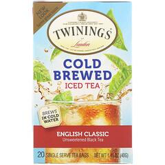 Twinings, 冷釀造冰茶,經典英式,20 茶包,1.41 盎司(40 克)