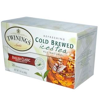 Twinings, 水出しアイスティー, イングリッシュ クラシック, ティーバッグ 20袋, 1.41 oz (40 g)