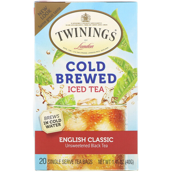 Cold Brewed Iced Tea, English Classic, 20 Tea Bags, 1.41 oz (40 g)
