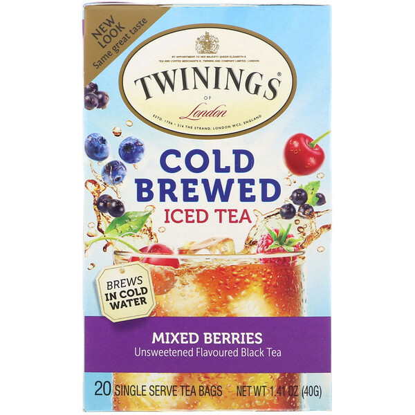 Cold Brewed Iced Tea, Mixed Berries, 20 Tea Bags, 1.41 oz (40 g)